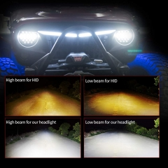 DOT E-mark 7 inch led car headlight for Jeep/Harleys Davidsons motorcycle auto light