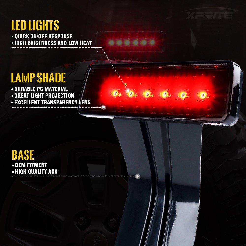 Lampu Rem LED Lampu stop pemasangan tinggi Untuk Jeep Wrangler JK 2007+