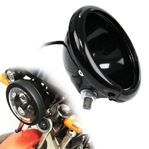 "5 3/4"" 5.75 Inch headlights Housing bucket motorcycle headlight 5.75"" headlight housing bracket"