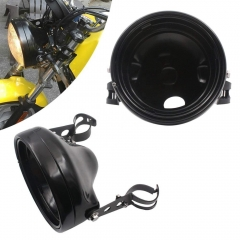 7 inch headlight housing Bracket holder black/chrome 7 headlight housing holder for motorcycle