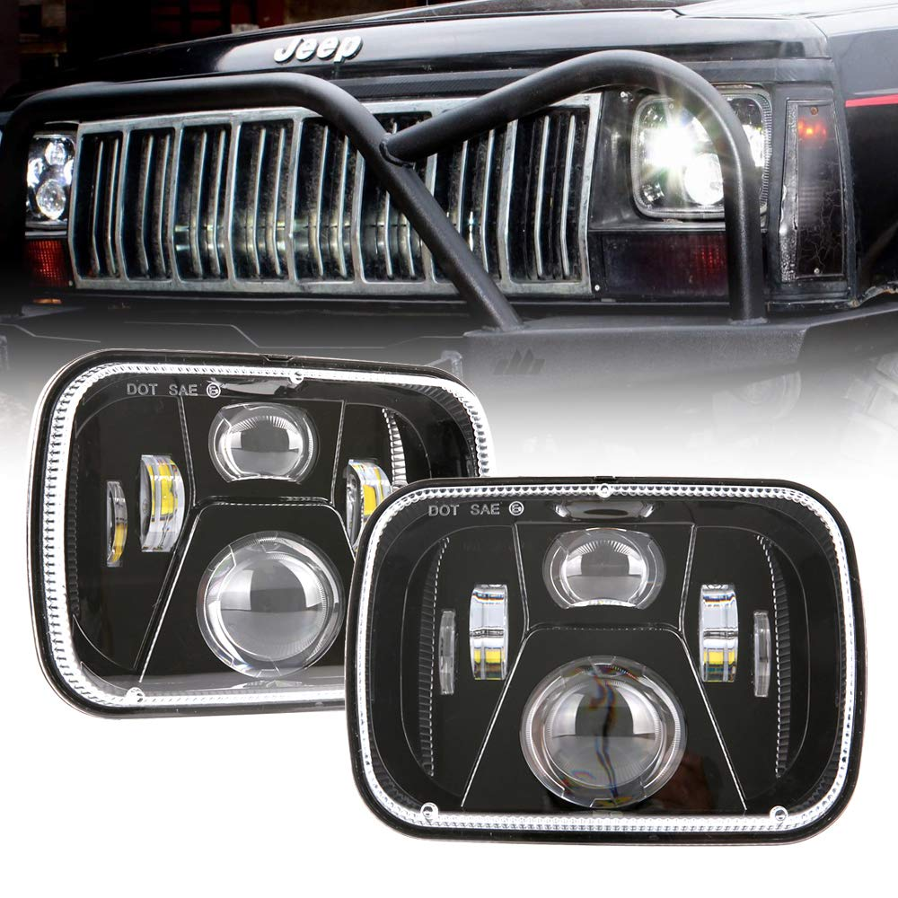 Ruudukujulised 5x7 esilaternad 1995 Jeep Cherokee led-esituled 95 Jeep Cherokee XJ led-esituled