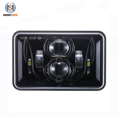 Rectangle 4x6 truck led headlights with hi lo beam DOT SAE approved