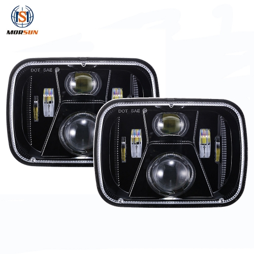 Square 5x7 headlights 1995 jeep cherokee led headlights 95 Jeep Cherokee XJ led headlights