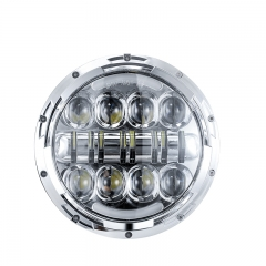 For Jeep Wrangler Parts 7 headlights White/Amber Halo Ring Headlight for Road Glide Hi/Low Beam 7