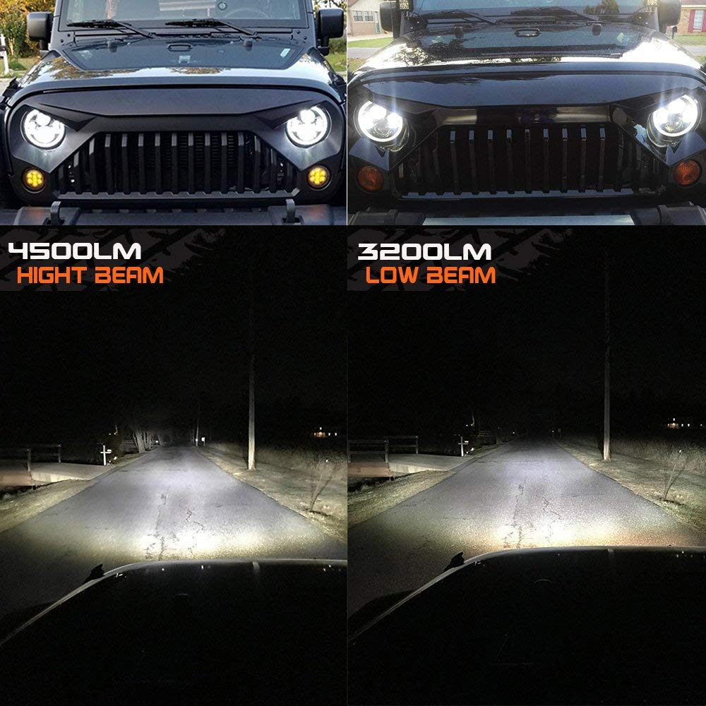 7 inch headlights for jeep wrangler қолдану
