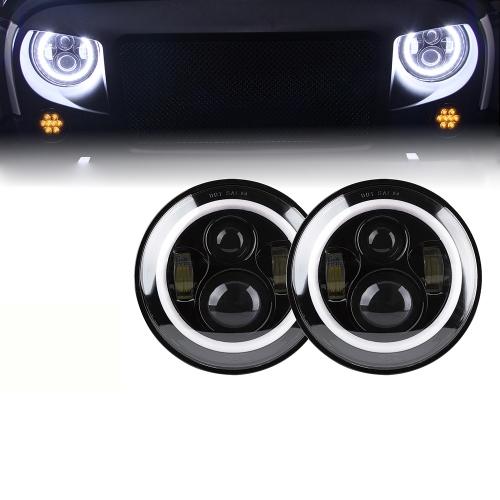 Lampu halo murah yang bagus untuk jeep wrangler unlimited JK 4 Door 2007-2016 dengan sinyal belok high low beam