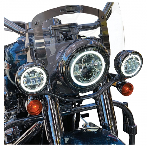"2 PCS 4.5 ""Harley Davidson Led Fog Lights 30W Harley Kaaliye Halo Lights"