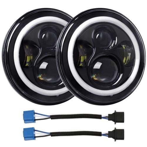Une paire de 2 phares à LED de 7 pouces pour 2010 Jeep Wrangler Rubicon 55078149AD 55078148AD Jeep Wrangler Pièces de phares composites Rubicon