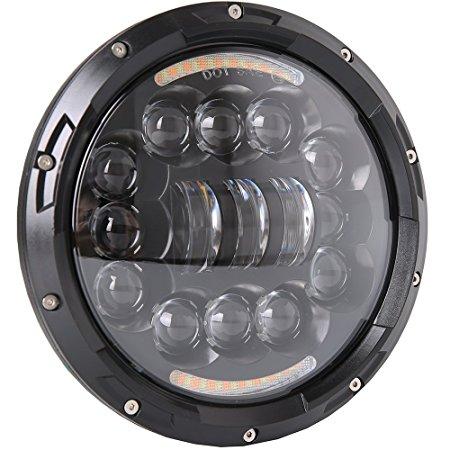 7英寸圓形吉普JK售後大燈2007-2018,具有高近光和DLR