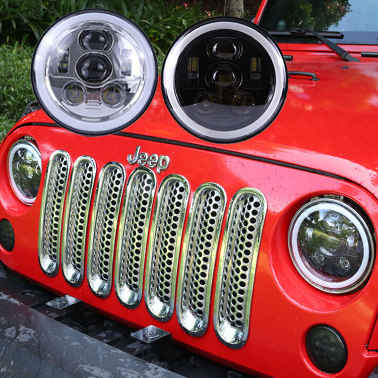 Lampu halo balok hi / lo 58W untuk jeep wrangler tj 1997-2006