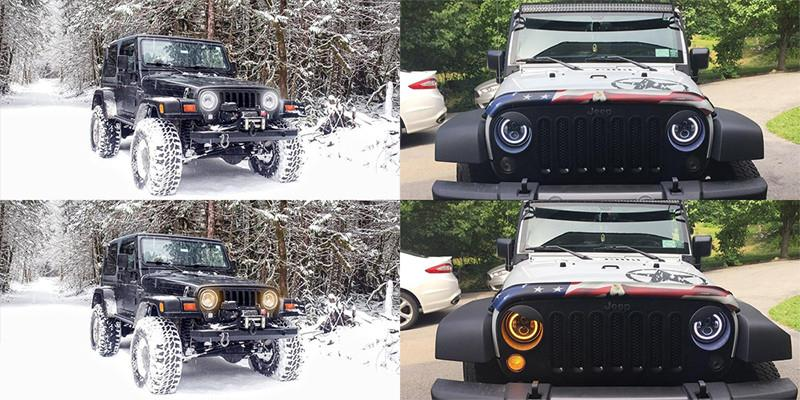 Jeep Wrangler Lampu Depan JK / JKU Led