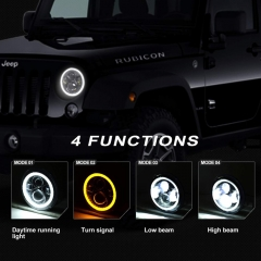 One Pair 2 pcs 7 inch Led Headlamps for 2010 Jeep Wrangler Rubicon 55078149AD 55078148AD Jeep Wrangler Rubicon Composite Headlamp Parts