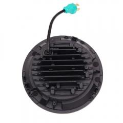 Lentille de phare de projecteur LED ronde 50w DOT 7 `` pour Jeep Wrangler TJ 1997-2006 avec feux de croisement