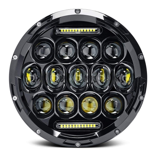 "75W 7"" Round 1997-2006 Jeep Wrangler TJ Led Headlights with High Low Beam and DRL"