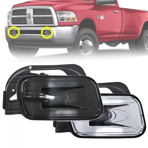 New Arrival 36W Black Chrome Led Fog Lamps Assembly for Dodge Ram 1500 2500 3500 Pickup/Truck