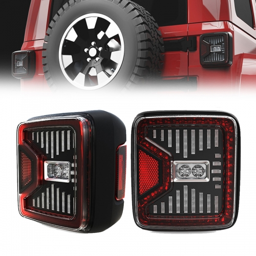 Morsun New Arrival Led Tail Lights for Jeep Wrangler JL 2018 2019 with Reverse/Running/Turn/Brake Beams