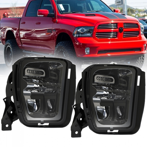 48W Auxiliary Led Fog Lamps Replacement for Dodge Ram 1500 Pickup 2013 2014 2015 2016 2017 2018