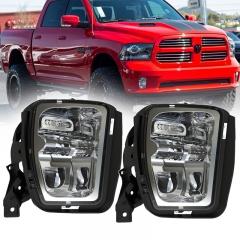 48W Auxiliary Led Fog Lamps Replacement untuk Dodge Ram 1500 Pickup 2013 2014 2015 2016 2017 2018