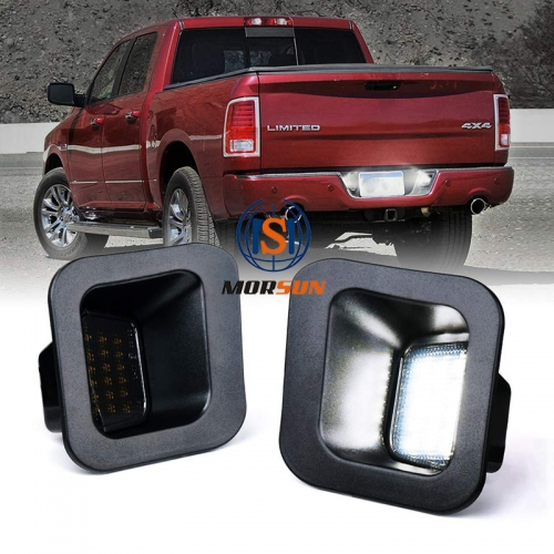 2003-2018 Dodge Ram Pickup 1500 2500 3500 SMD LED Rear License Plate Light Conversion Kit