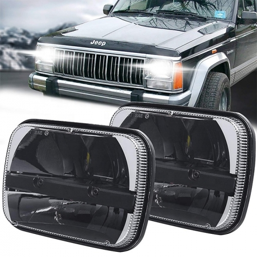 5х7 дюймаи чароғҳои пешашон барои Jeep Wrangler YJ XJ Led Truck Led for GMC Ford Super Duty Chevrolet Express