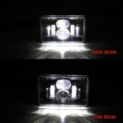 DOT SAE 4x6 Led Truck Headlights for Kenworth T400 T600 T800 W900B W900L