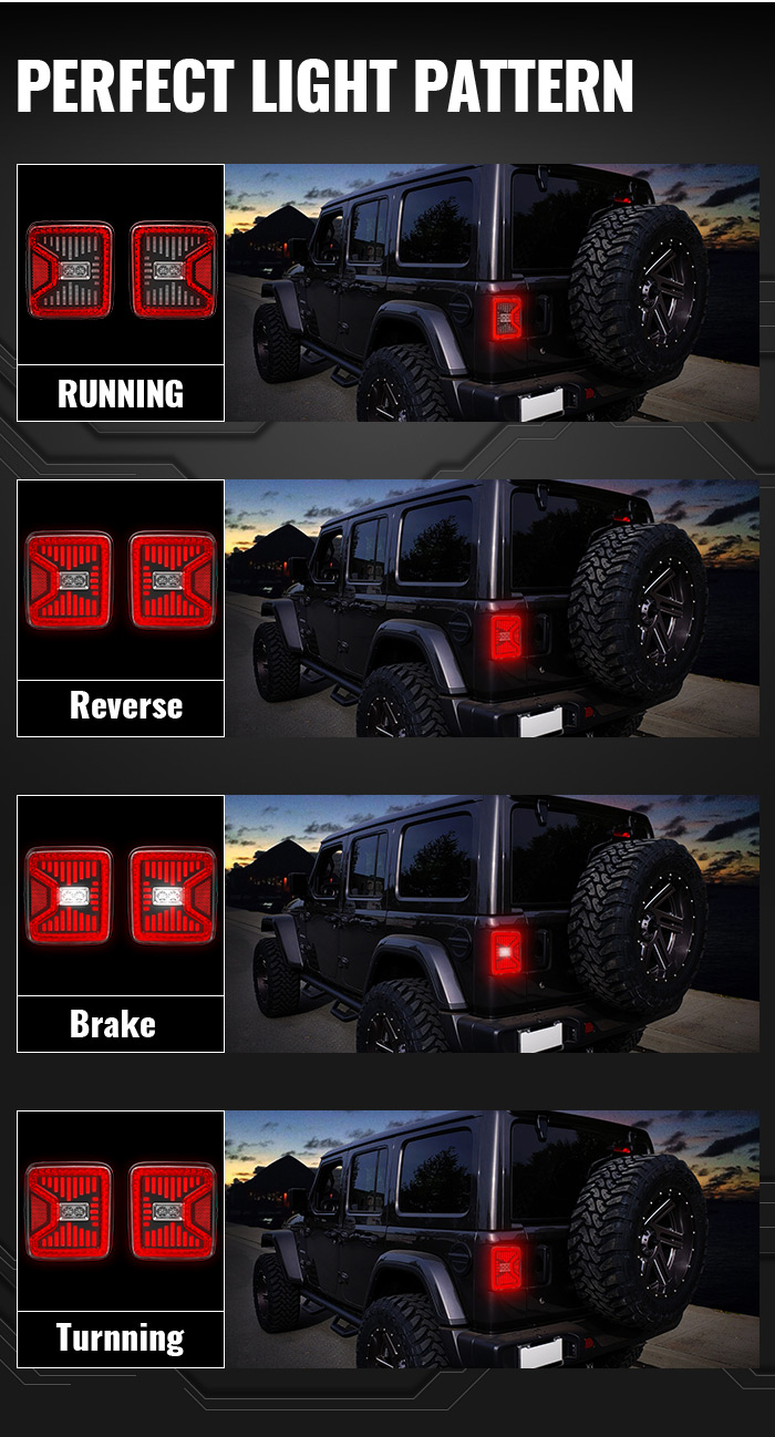 Jeep Jl Led Tail Lights Light Pattern