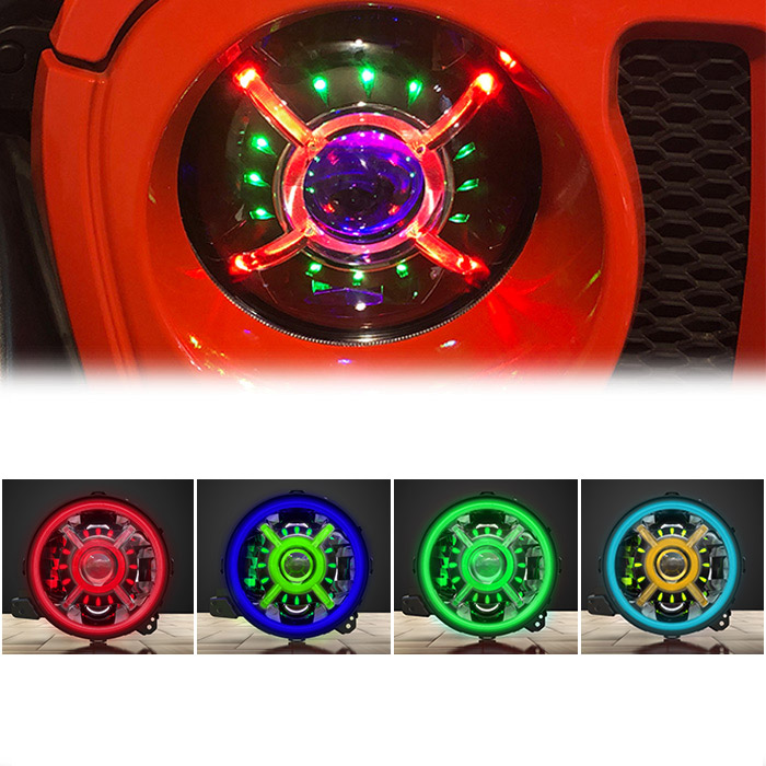 Jeep Wrangler JL RGB Headlights