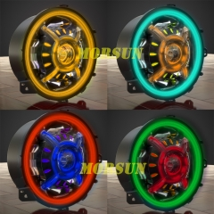Canviant de color Jeep Wrangler JL RGB Halo Faros Jeep Wrangler JL RGB Led Halo Lights