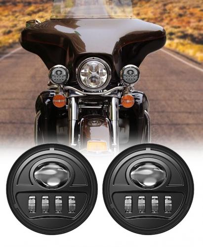 """30W 4.5 """"LED մառախուղի լույսեր Harley Electra Glide- ի համար 1998-2015 Օժանդակ 4 1/2 Led լուսավորող լույսեր Harley մոտոցիկլետների համար"""