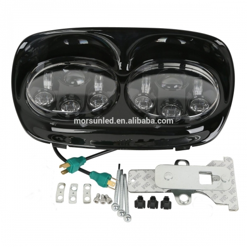 2004-2013 Harley Davidson Road Glide Daymaker Projector Headlight Black Chrome 5.75 Zoll Road Glide Double Led Headlight Motorrad Accessoiren
