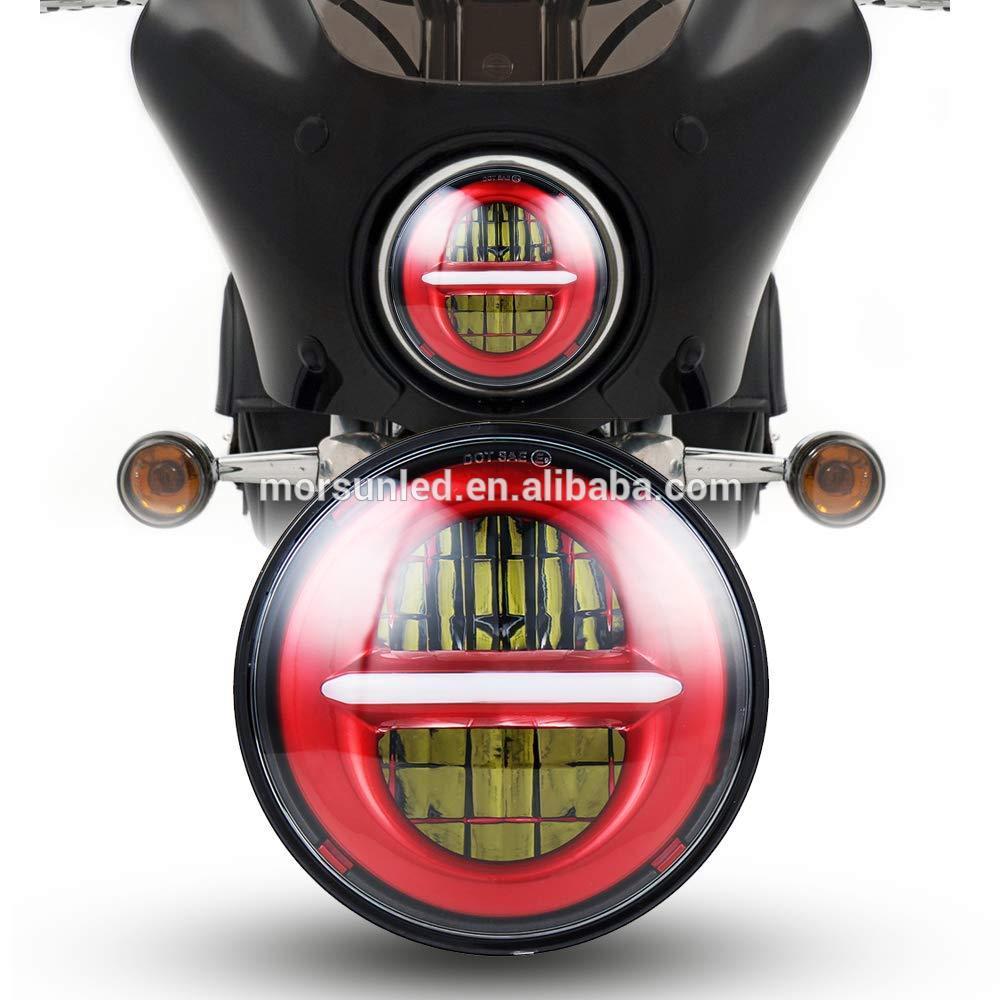 5.75 inch Harley Sepeda Motor Lampu Led Merah