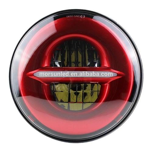 Far vermell Harley Davidson amb led de 5.75 polzades amb senyal de gir DRL de baix baix Accessoris per a motocicletes