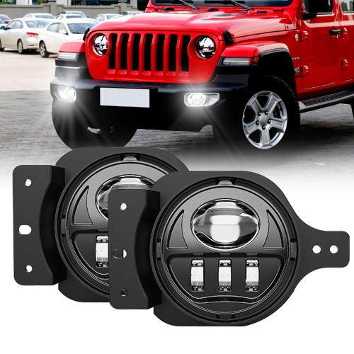 "4 ""2019 2018 Jeep Wrangler JL Fog Lights 17W 2018+ Jeep JL Led Fog Lights"