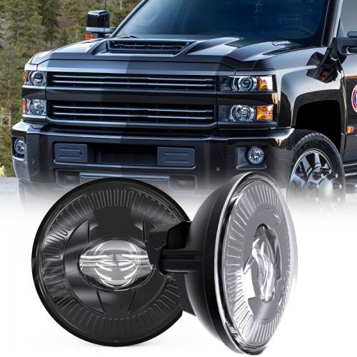 """2020 Новае прыбыццё 5 """"святлодыёдныя дадатковыя ліхтары супраць 12 Вт для Chevy GMC Ford Pontiac Аўтаасвятленне Чорны храмаваны колер"""
