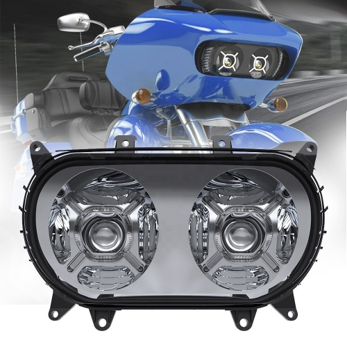 "5.75 ""Dual Headlight fir Harley Road Glide FLTRX FLTRXS Ultra FLTRU Road Glide Led Headlight Upgrade"