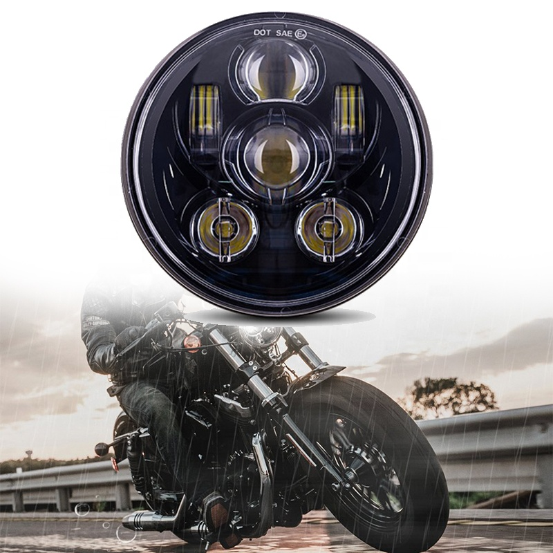 DOT SAE Emark Approved 5 3/4 5.75 inch Led Motorcycle Headlight for Harley Davidson Sportsters Triumph