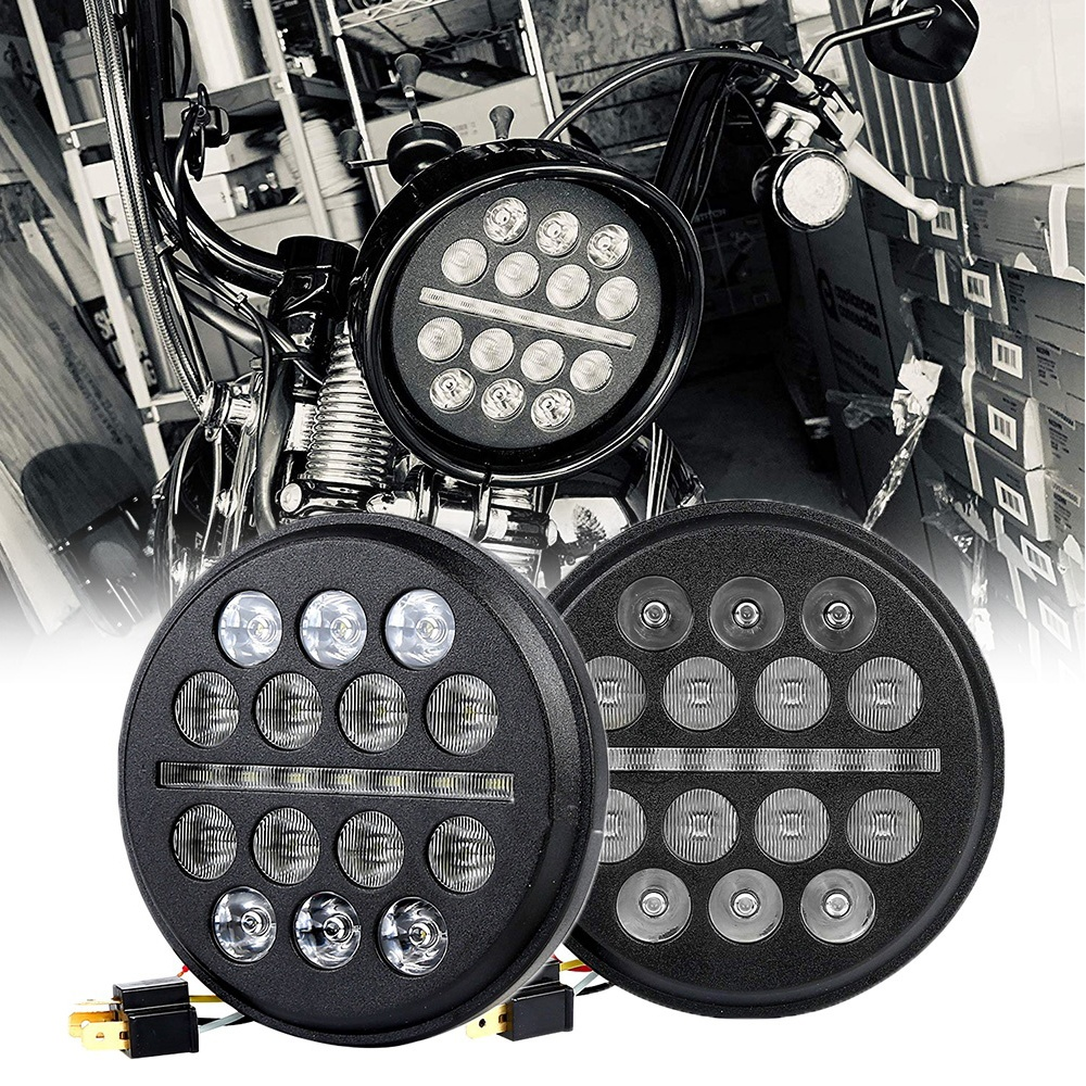 5.75 inch Led Headlights for Harley Davidson Sportsters Dyna FXSTS FXDWG 5 3/4