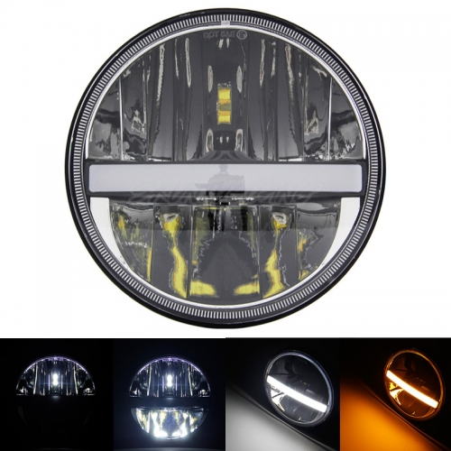 "7"" Round Led Headlights Jeep JK Aftermarket Headlights with High Low Beam DRL Turn Signal"