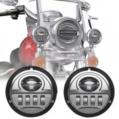 Electra Glide 4.5 inci Led Passing Lights Harley Davidson Lampu Bantu Led Sepeda Motor Kit Lampu Kabut Led 4.5 inci