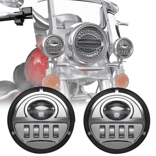 Electra Glide 4.5 inch Led Passing Lights Harley Davidson Led Auxiliary Lights Motorcycle 4.5 inch Led Fog Lights Kits