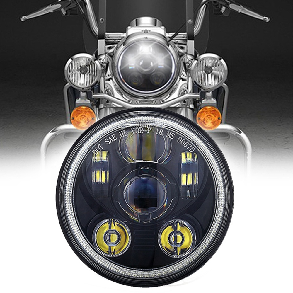 Lampu Halo Led Bulat 5.75 Harley Davidson Daymaker Headlight 5.75 Led Aksesoris Lampu Depan Sepeda Motor