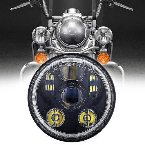 Round 5.75 Led Halo Headlights Harley Davidson Daymaker Headlight 5.75 Led Motorcycle Headlight Accessories