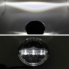 New Arrival Auxiliary Lights 4.5 inch Led Fog Lights untuk Harley Davidson Sepeda Motor Electra Glide Road King