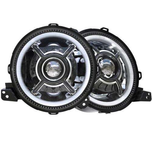 DOT SAE 9 inci Baru 2018 Jeep Wrangler Lampu Depan JL LED