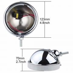 Chrome noir 4.5 pouces avant Led antibrouillard couvercle de la lampe de moto boîtier antibrouillard pour Harley Davidson