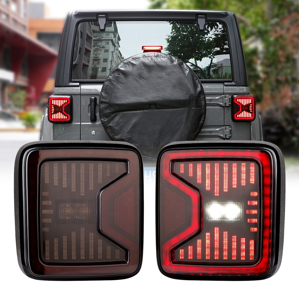Naaprubahan ng DOT 2018 Jeep Wrangler Pinangunahan ni JL ang Mga Tail Light na may Running Braking Turning Reverse Lights