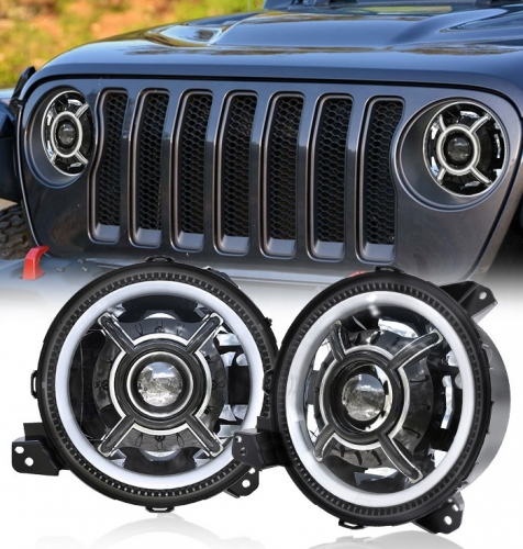 2018-אַרויף Jeep Wrangler Led Headlight Auto Led Lighting System H4 Automotive Lighting System