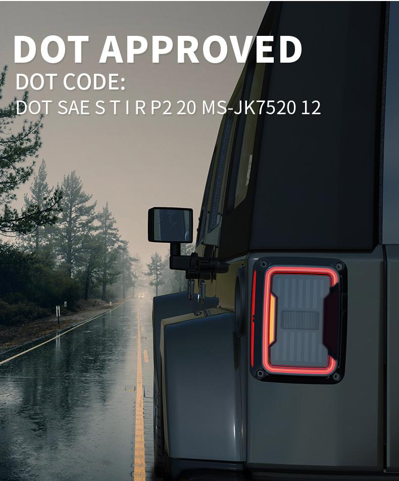 Jeep JK Led feux arrière DOT approuvé
