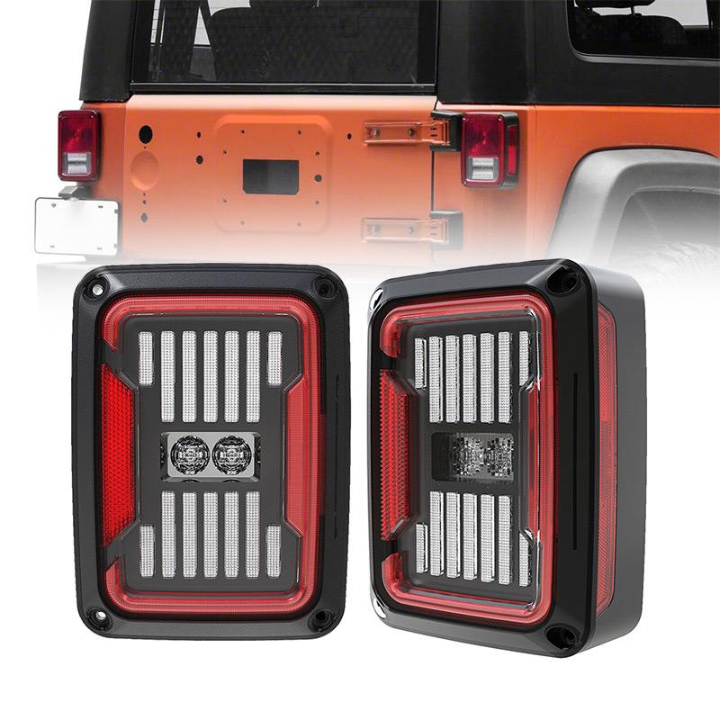 Bagian Belakang Asap / Bening Jeep Lampu Belakang JK Flush Mount Wrangler Jeep Lampu Rem Led JK
