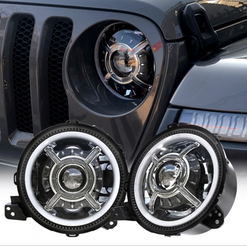 9 дюймдук Led Halo Jeep JL Rubicon фарлары Wrangler JL Aftermarket фарлары